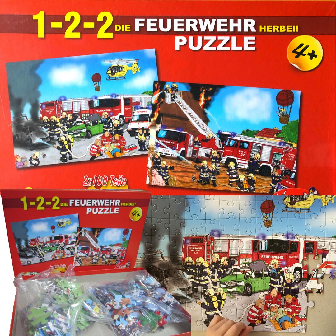 Puzzle - 122 die Feuerwehr herbei