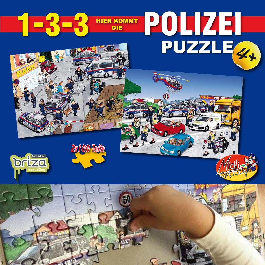 Puzzle - 133 hier kommt die Polizei